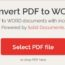 convert pdf to word software