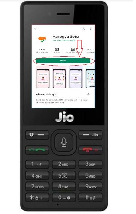 Aarogya setu app download in jio phone