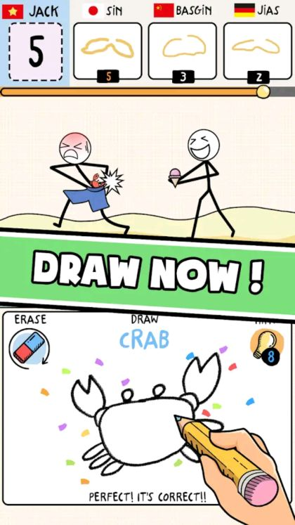 Draw puzzle sketch it game apk
