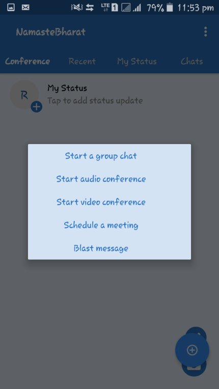 Namaste video conferencing app
