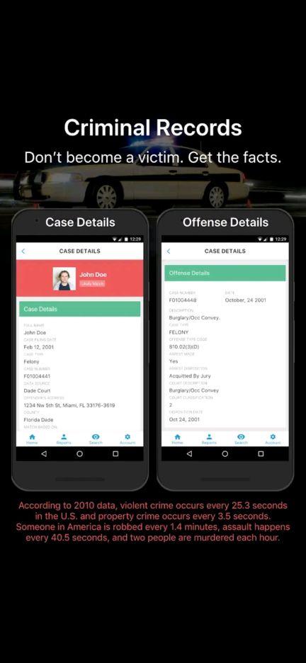 crime record truthfinder app