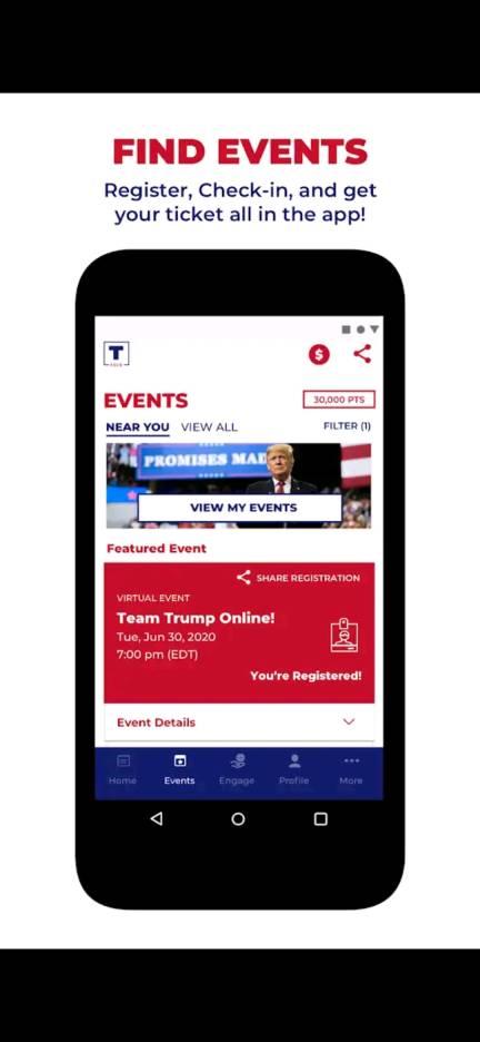 register trump rallies