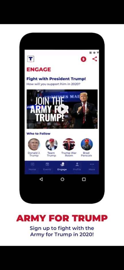 trump army app download