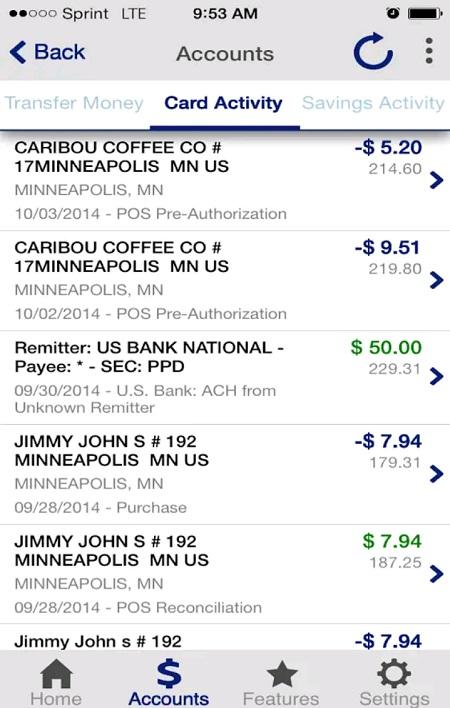 US bank Reliacard cash app