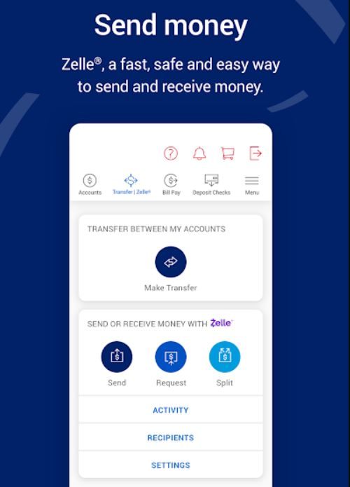 transfer funds through bank of america app