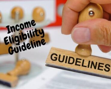 Income Eligibility Guideline set by the USDA Food