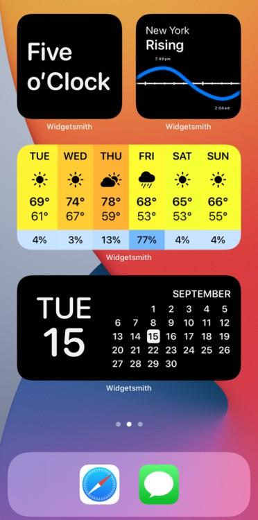 ios 14 widgets app icons
